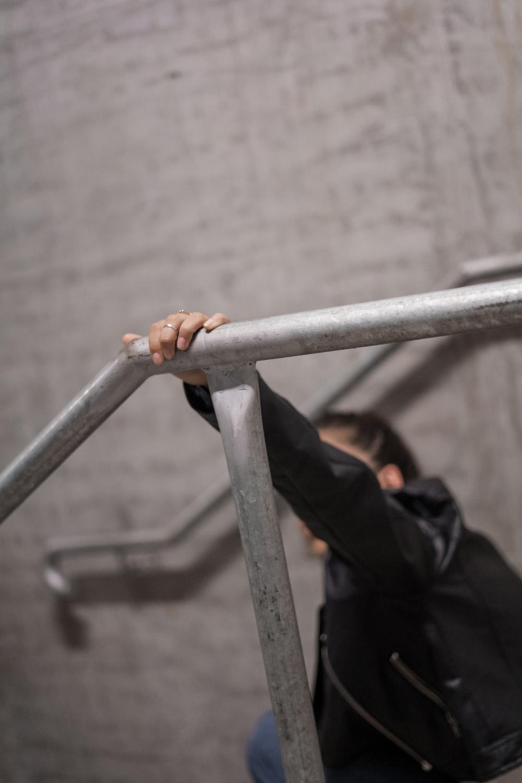 grey metal frame