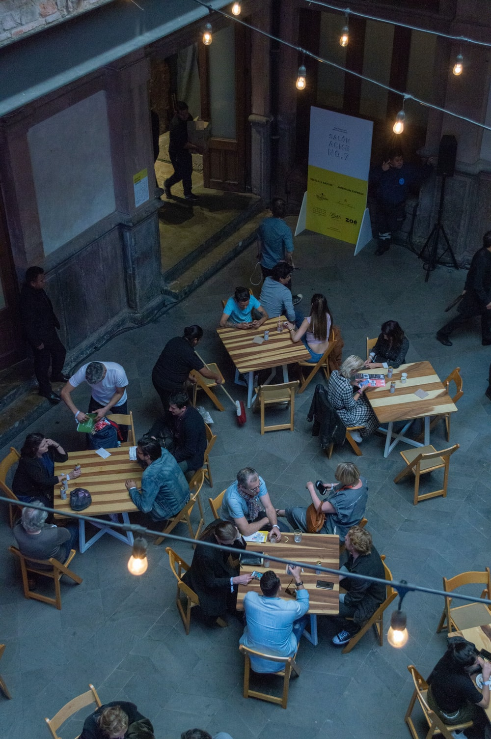 people sitting in front of table