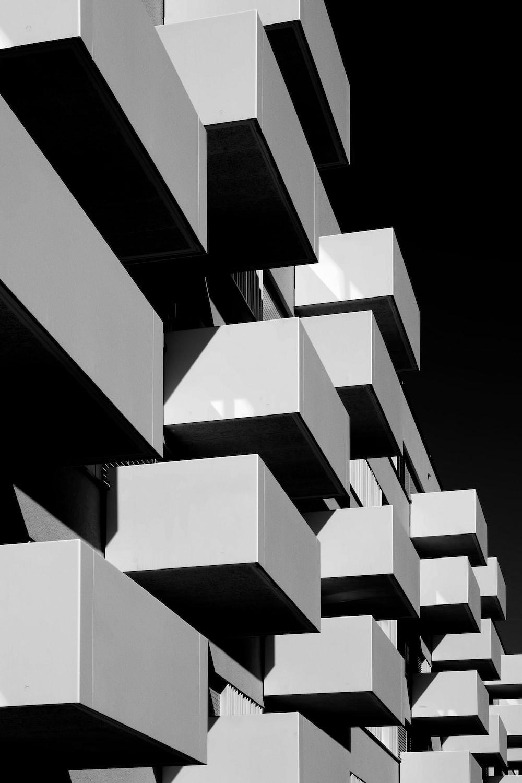 rectangular gray and black decor