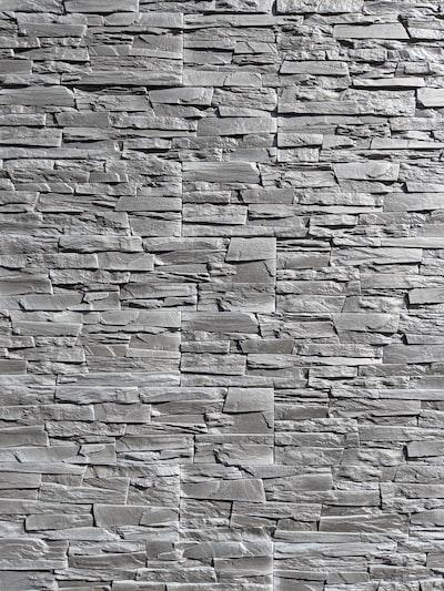 gray stone wall cladding