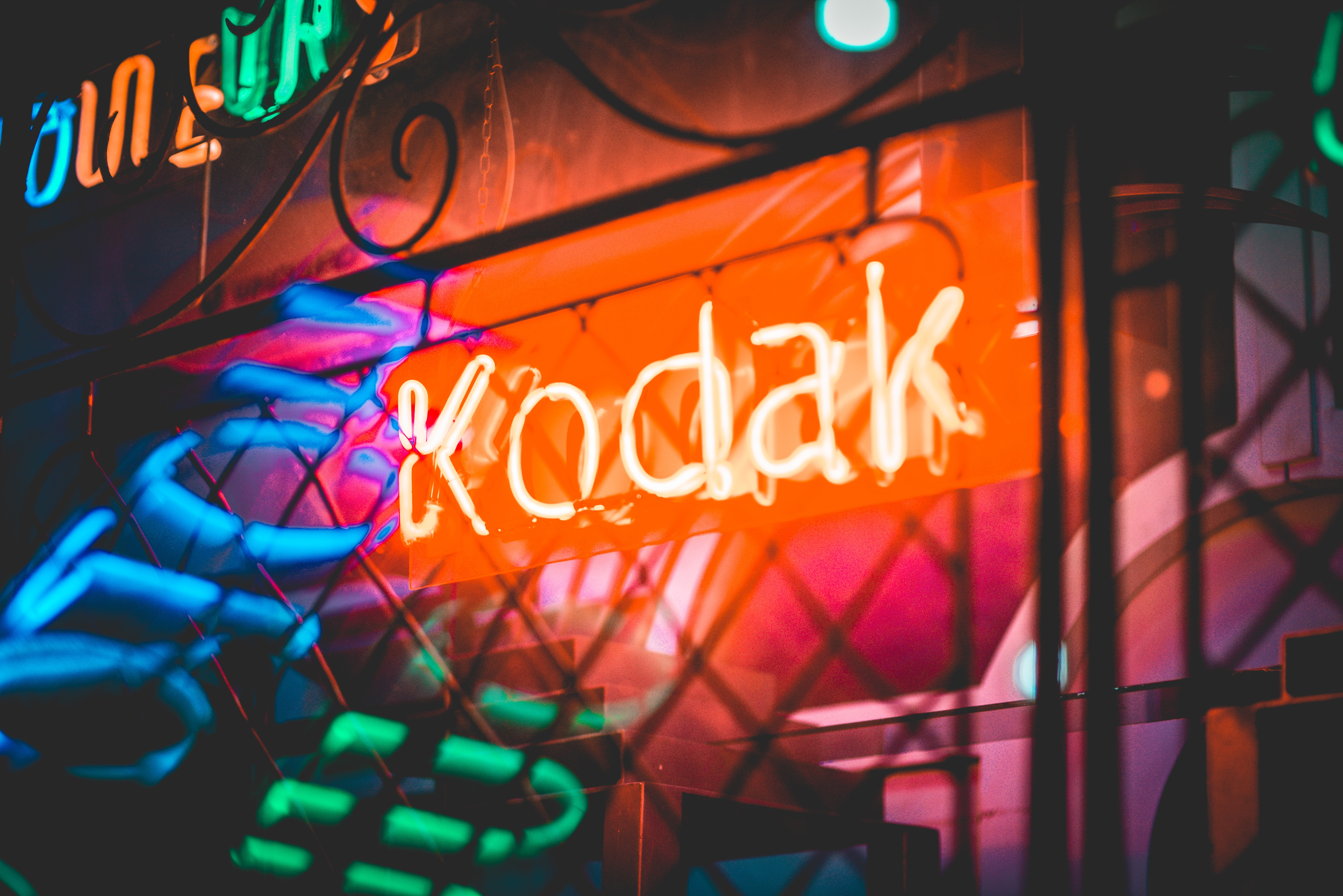 Kodak LED sign