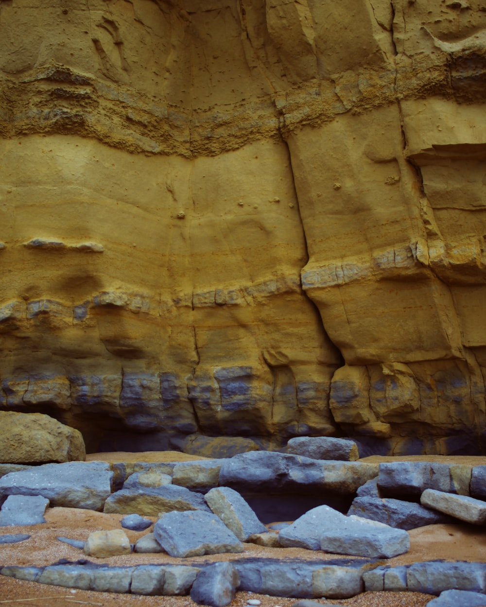 rock formation during faytime