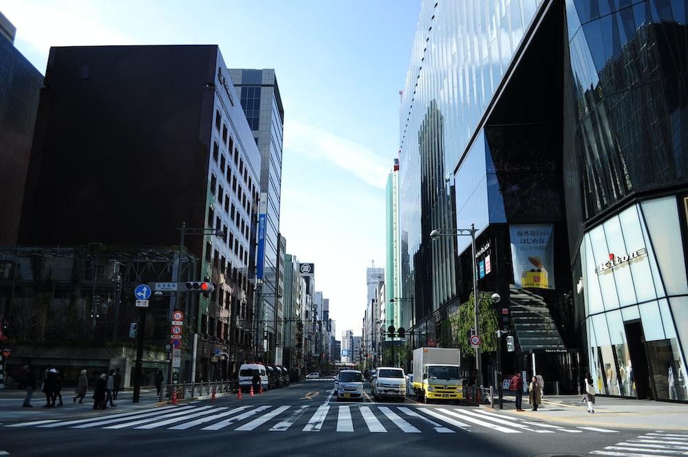 person walking on pedestrian lane