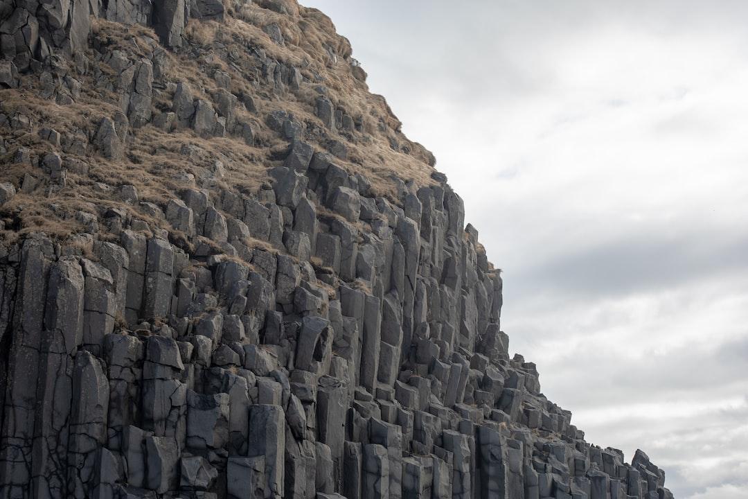 The Basalt columns on Reynisfjara beach taken between the sneaker waves.