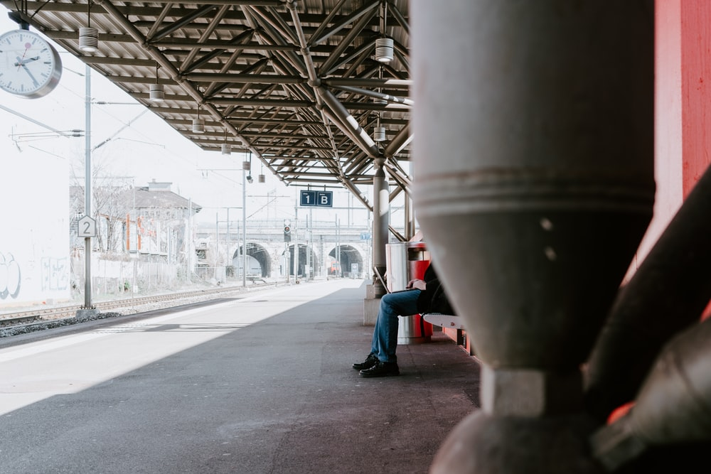 person sitting outdoors