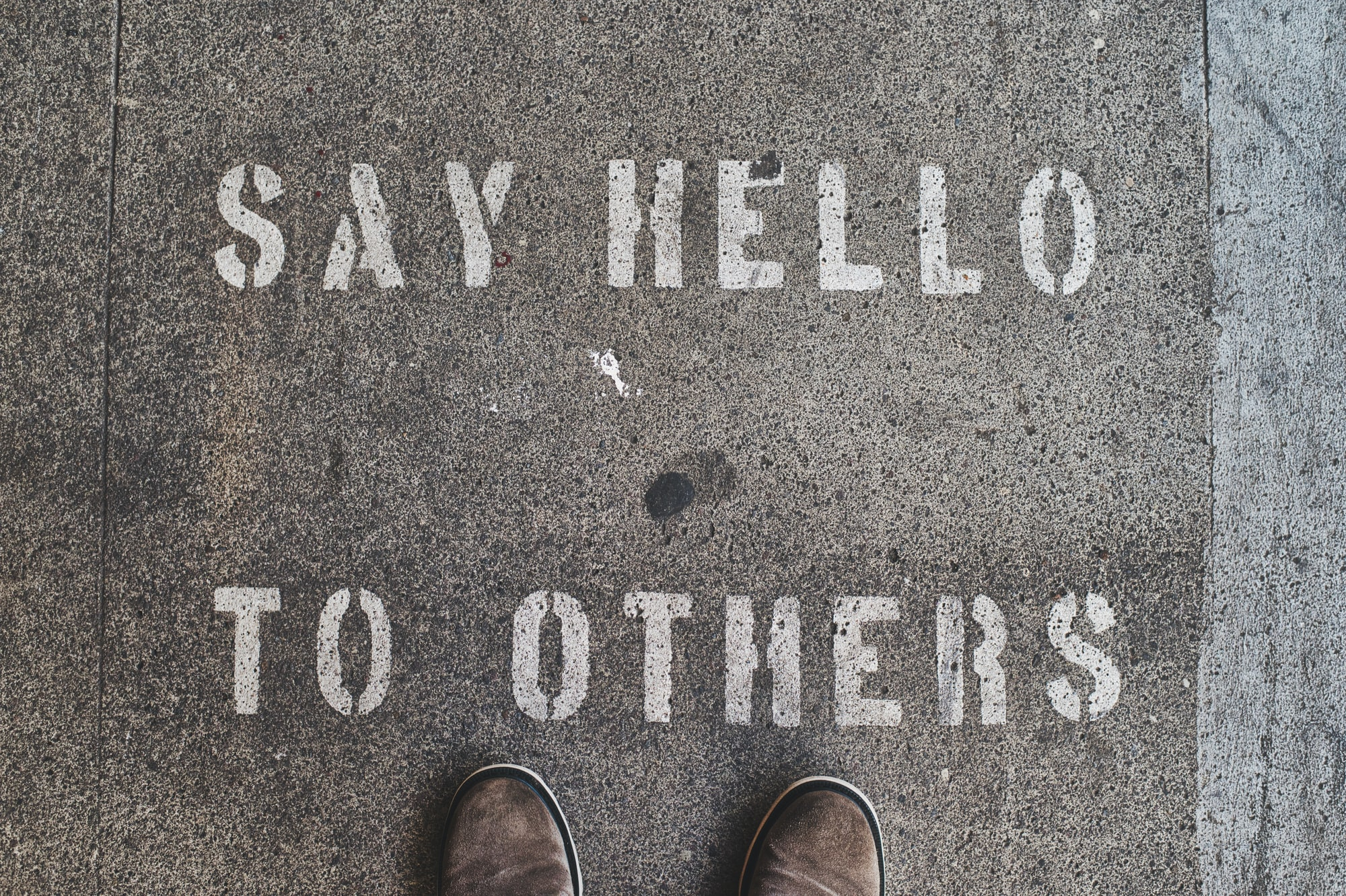Painted on the sidewalk, not sure why but I like it.