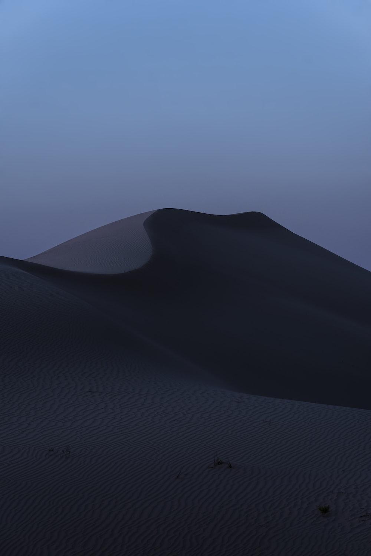 sand mountain at dusk