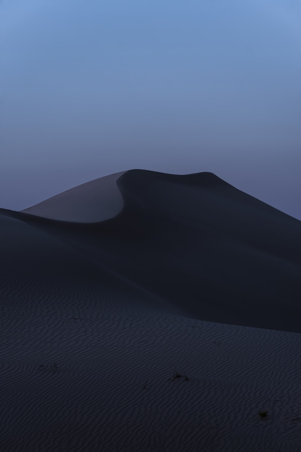 sand mountain at dusk