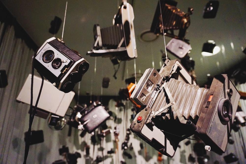 assorted-color camera lot
