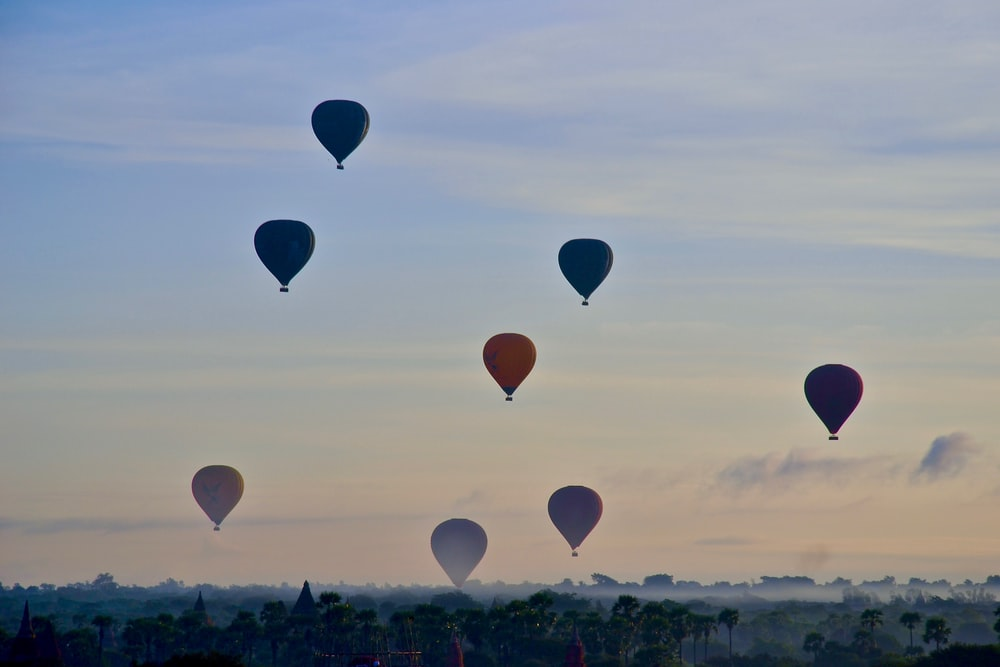 hot hair balloons flying