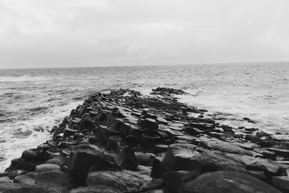 sea beside rock formation