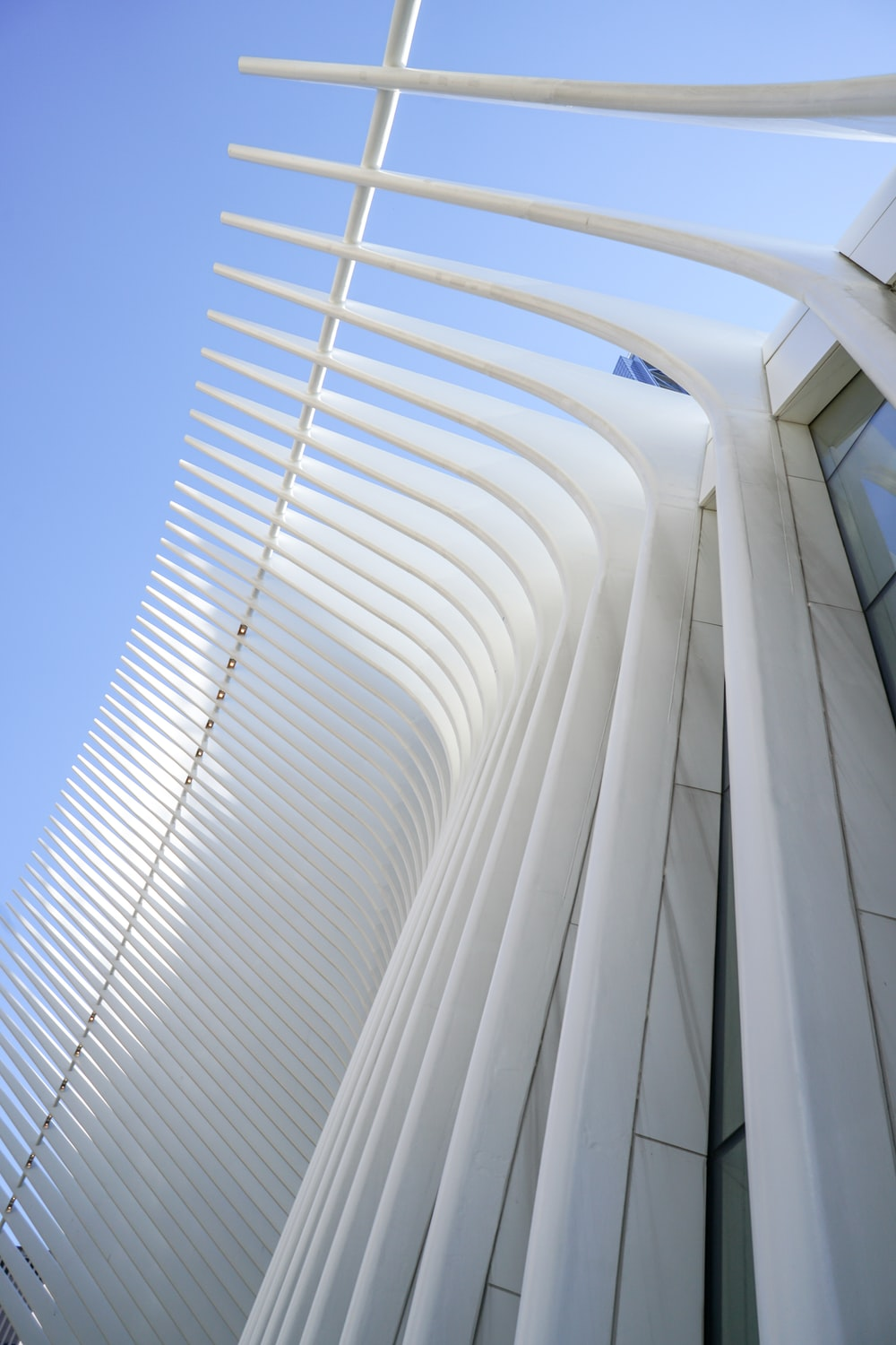 low angle photography of building under clear sky