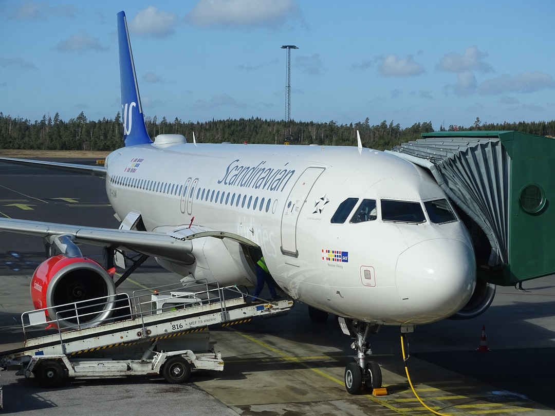 Get off the bus in Gothenburg Airport