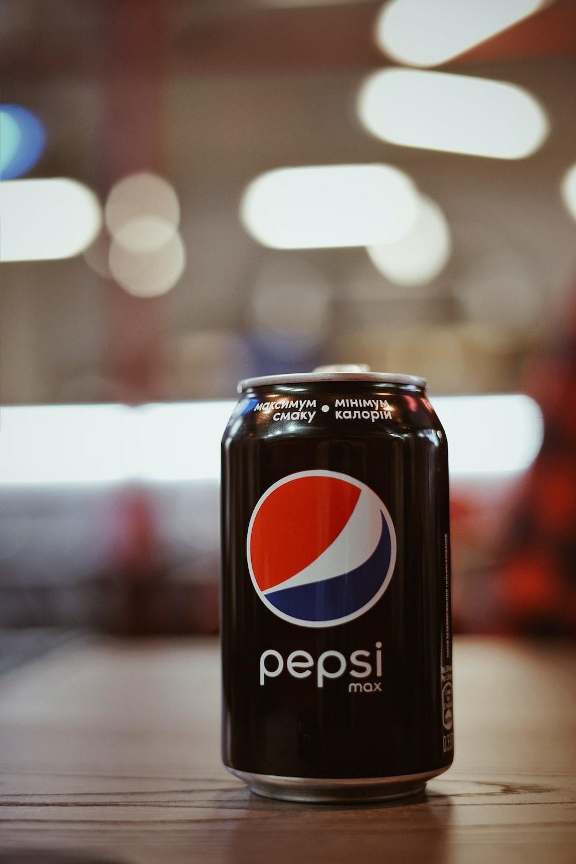 Pepsi soda tin can