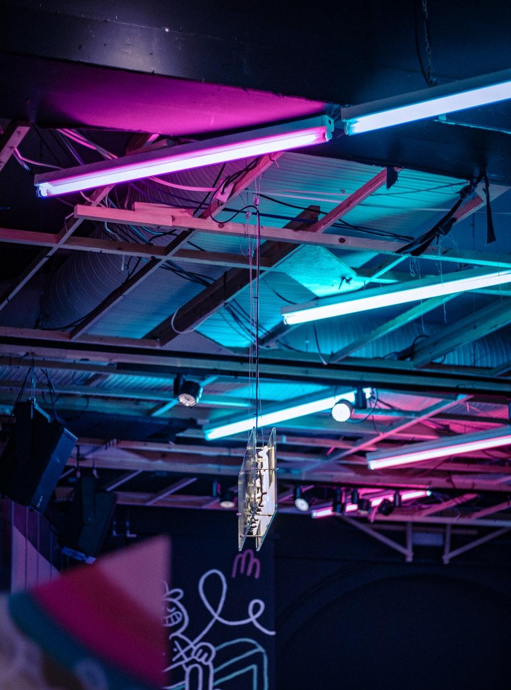 close-up of fluorescent bulbs