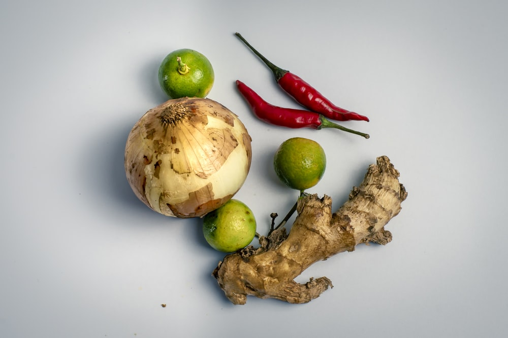 onion, chili, garlic, and lemon