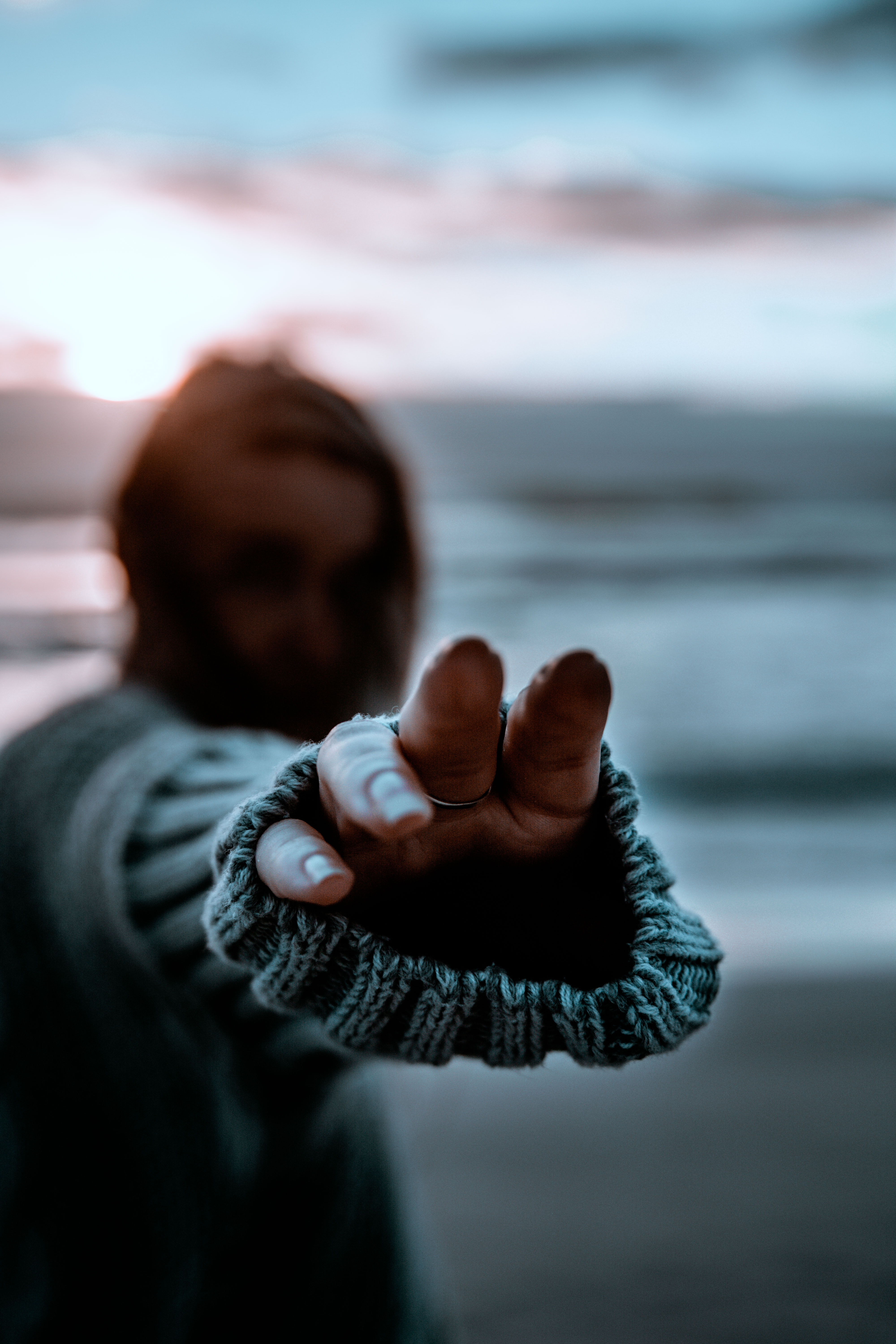 selective focus photography of person pointing fingers
