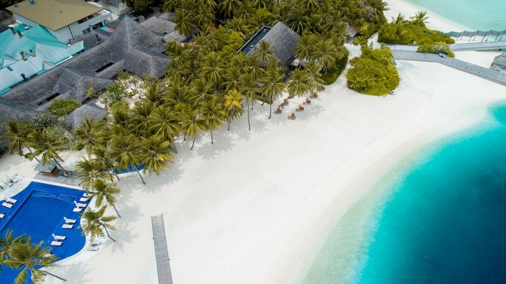 aerial beach island view