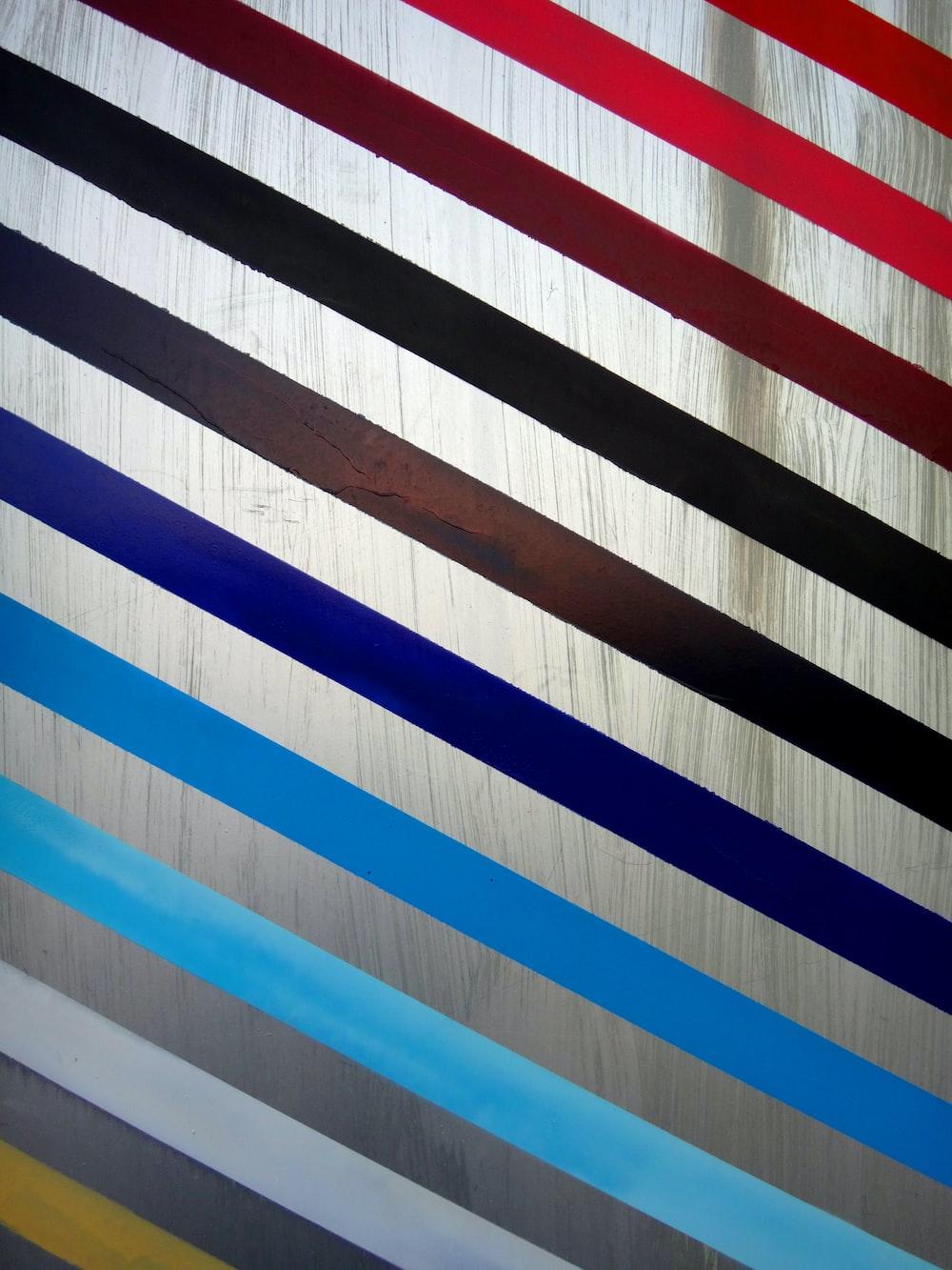 multicolored striped panel