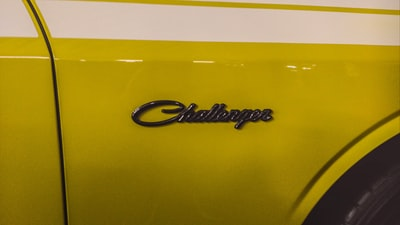 Dodge Challenger in Yellow