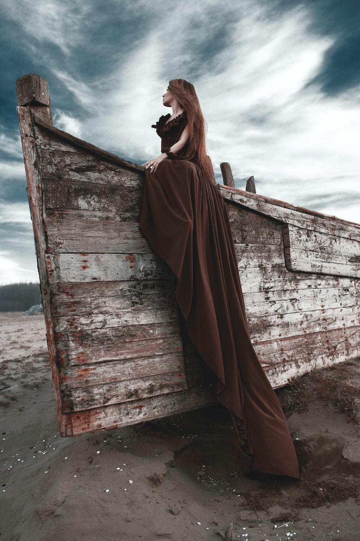 women's brown dress