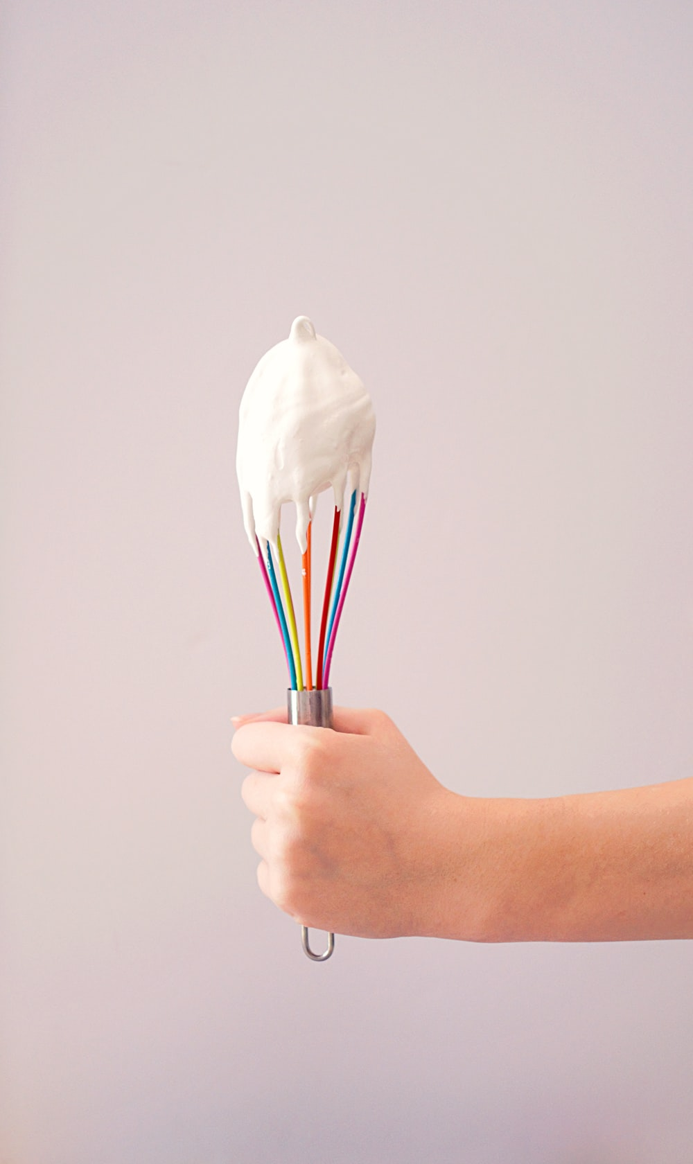 multicolored whip with cream