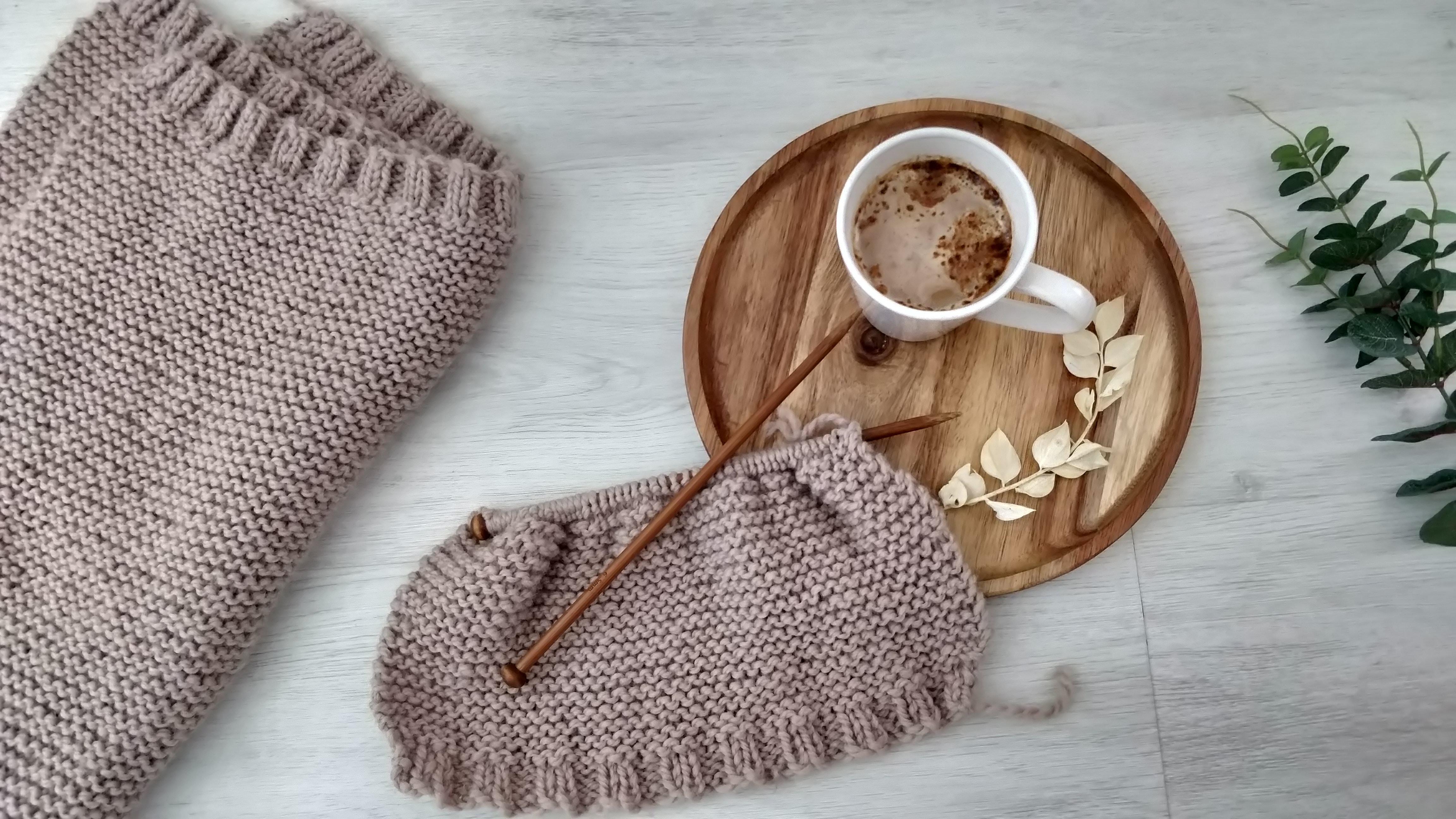brown knit textile