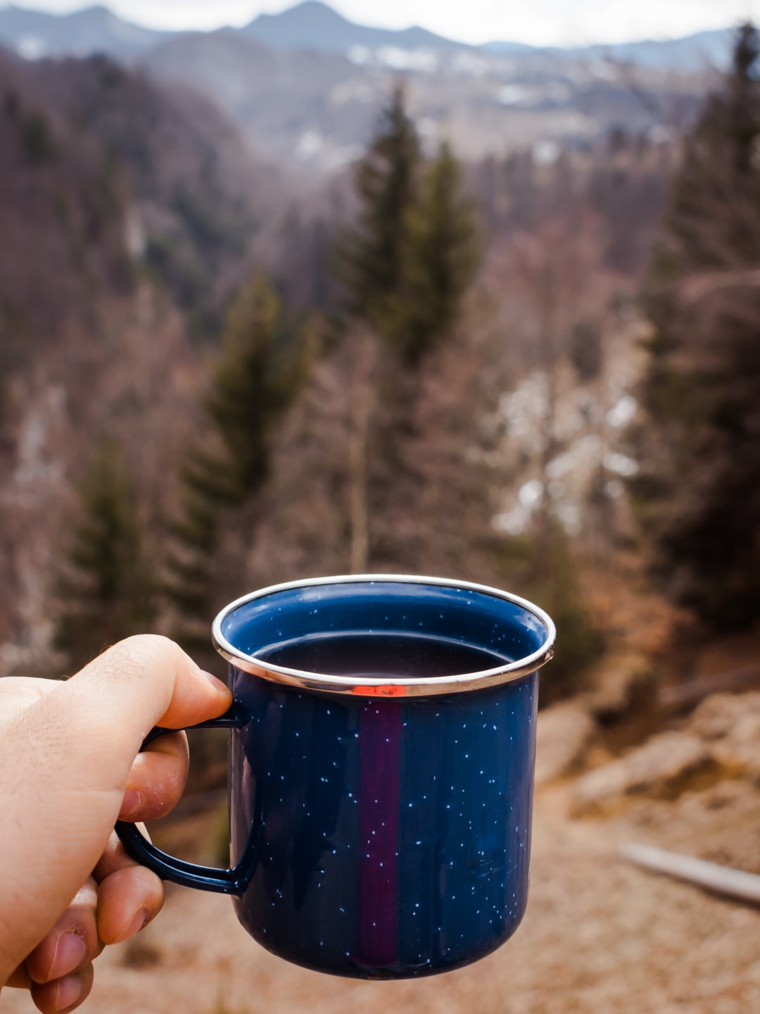 I keep the habit of a cup of warm tea on every mountain peak.