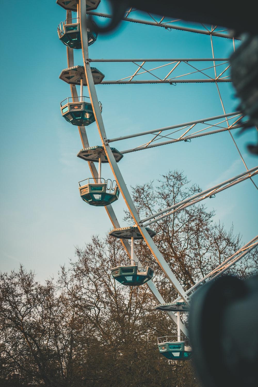 blue and gray ferris wheel