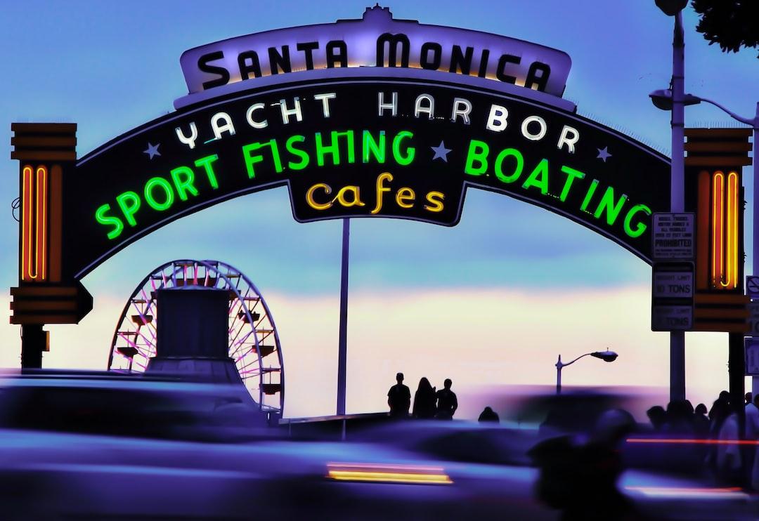 Santa Monica Yacht Harbor u003cbu003eSportu003c/bu003e Fishing Boating cafes illustration ...