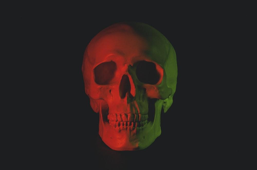 skull head bust with LED light