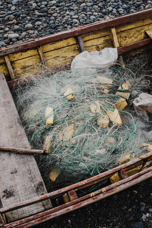 fish net on canoe