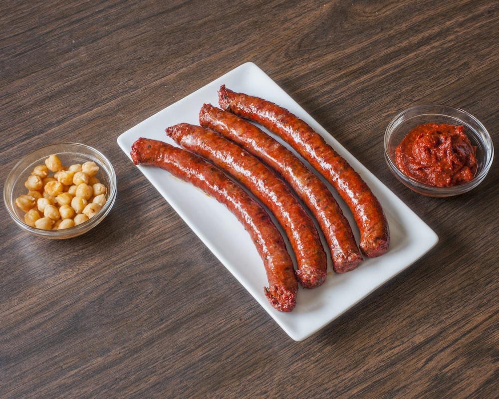 plate of sausage
