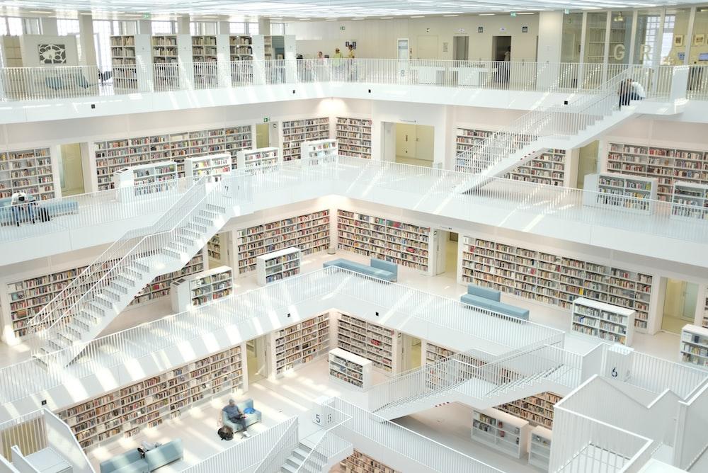 books inside building