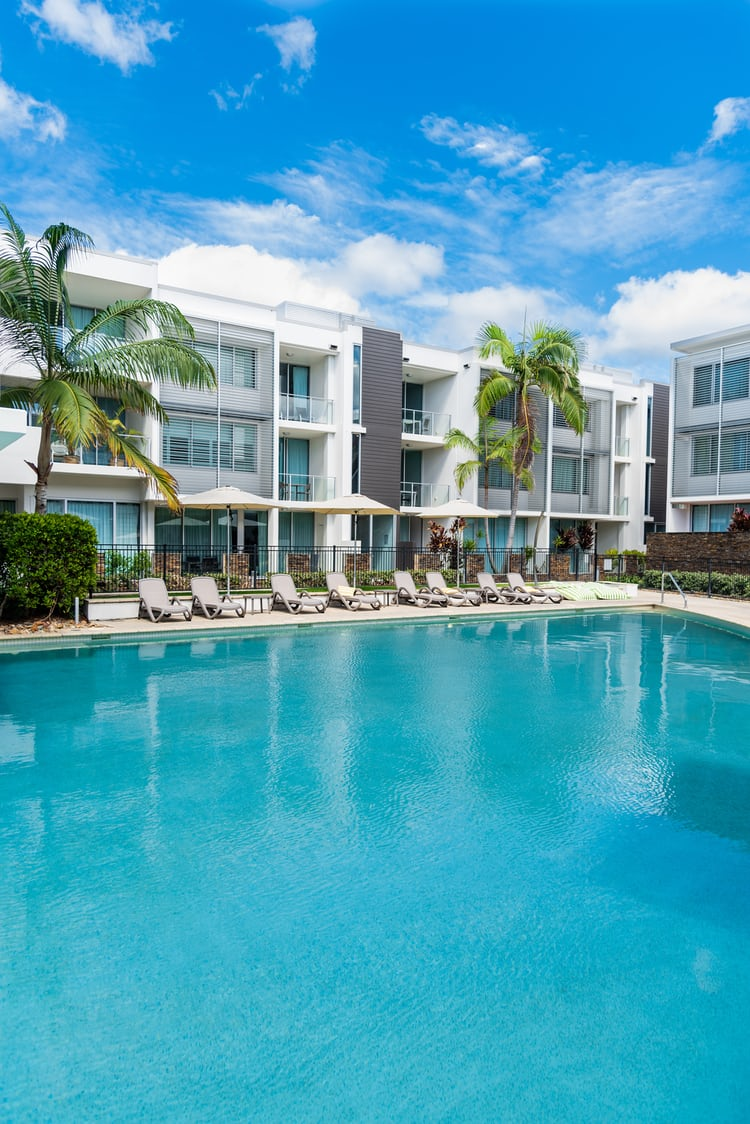 Resort, Building, Hotel And Coolum Beach