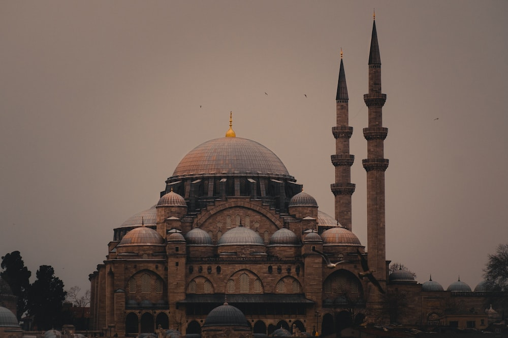 Sultan Ahmed Mosque under gray skies