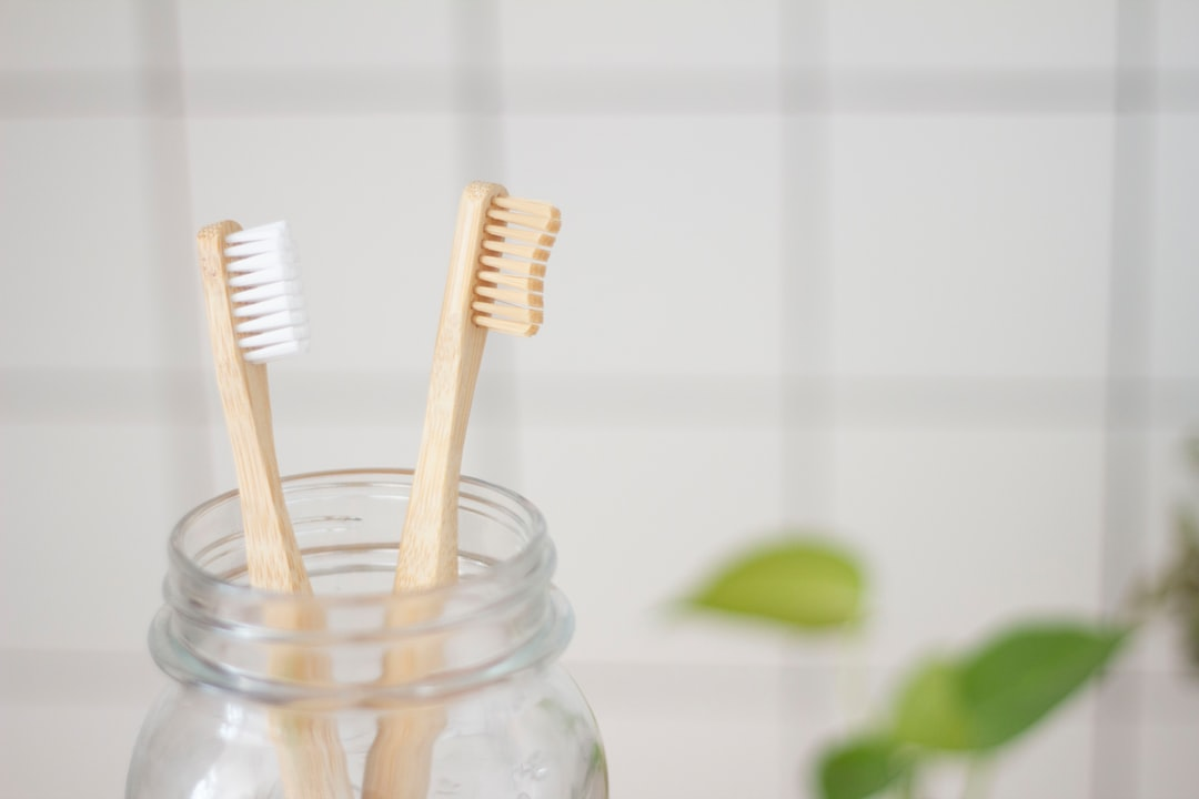 Bambu eco toothbrush in a glass bottle