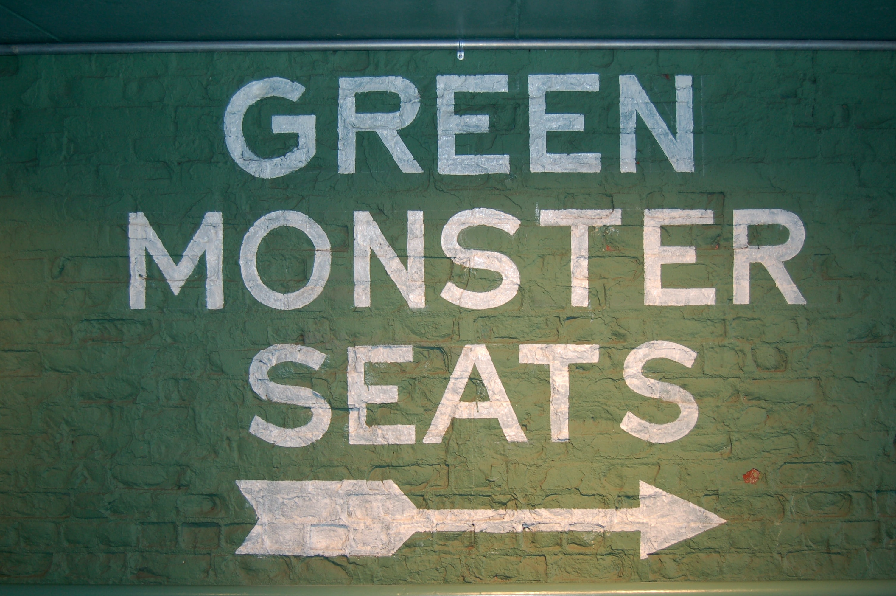 green monster seats signage