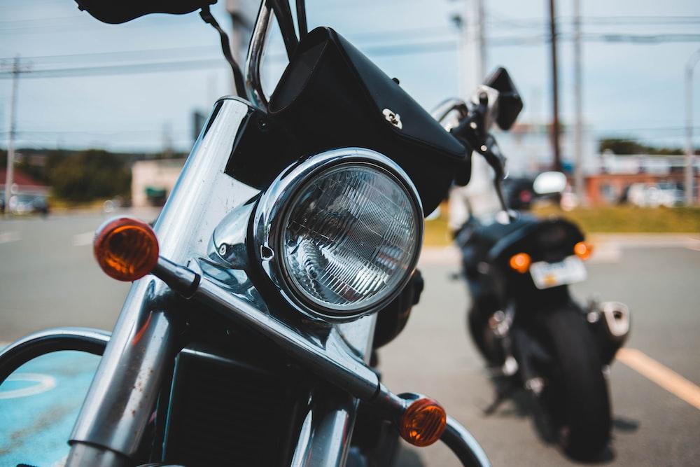 standard motorcycle on road