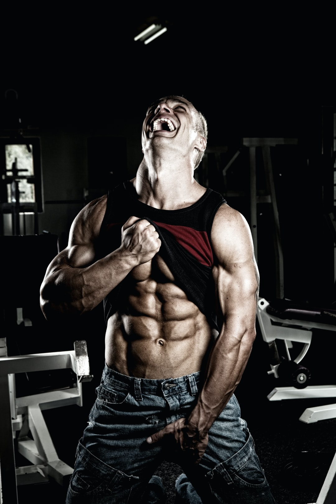 Handsome young man with killer abs