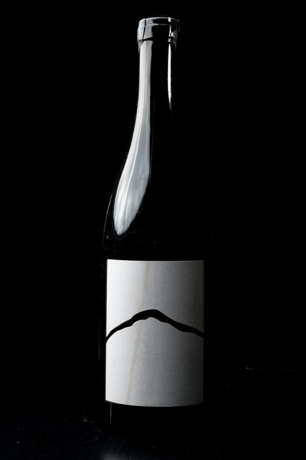 empty labeled bottle