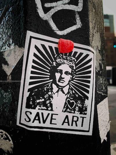 Save Art sticker on post