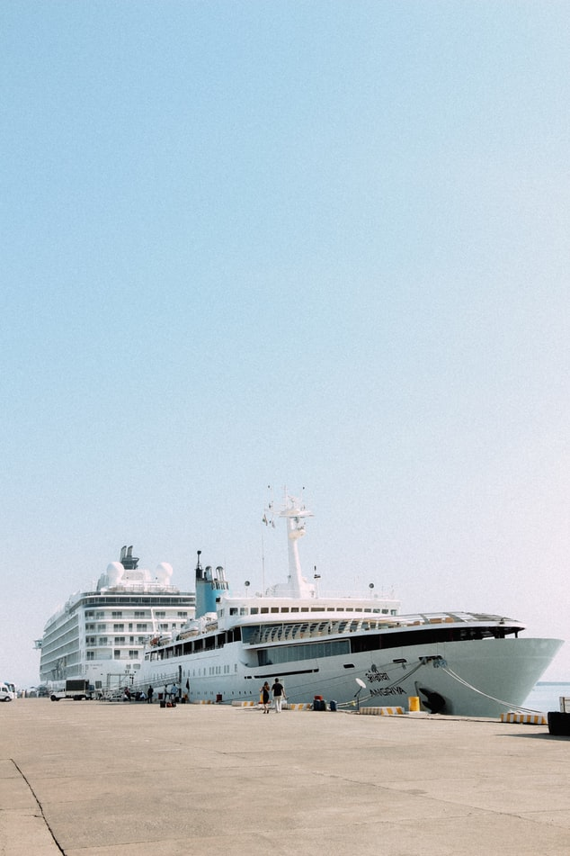 A cruise ship in Goa