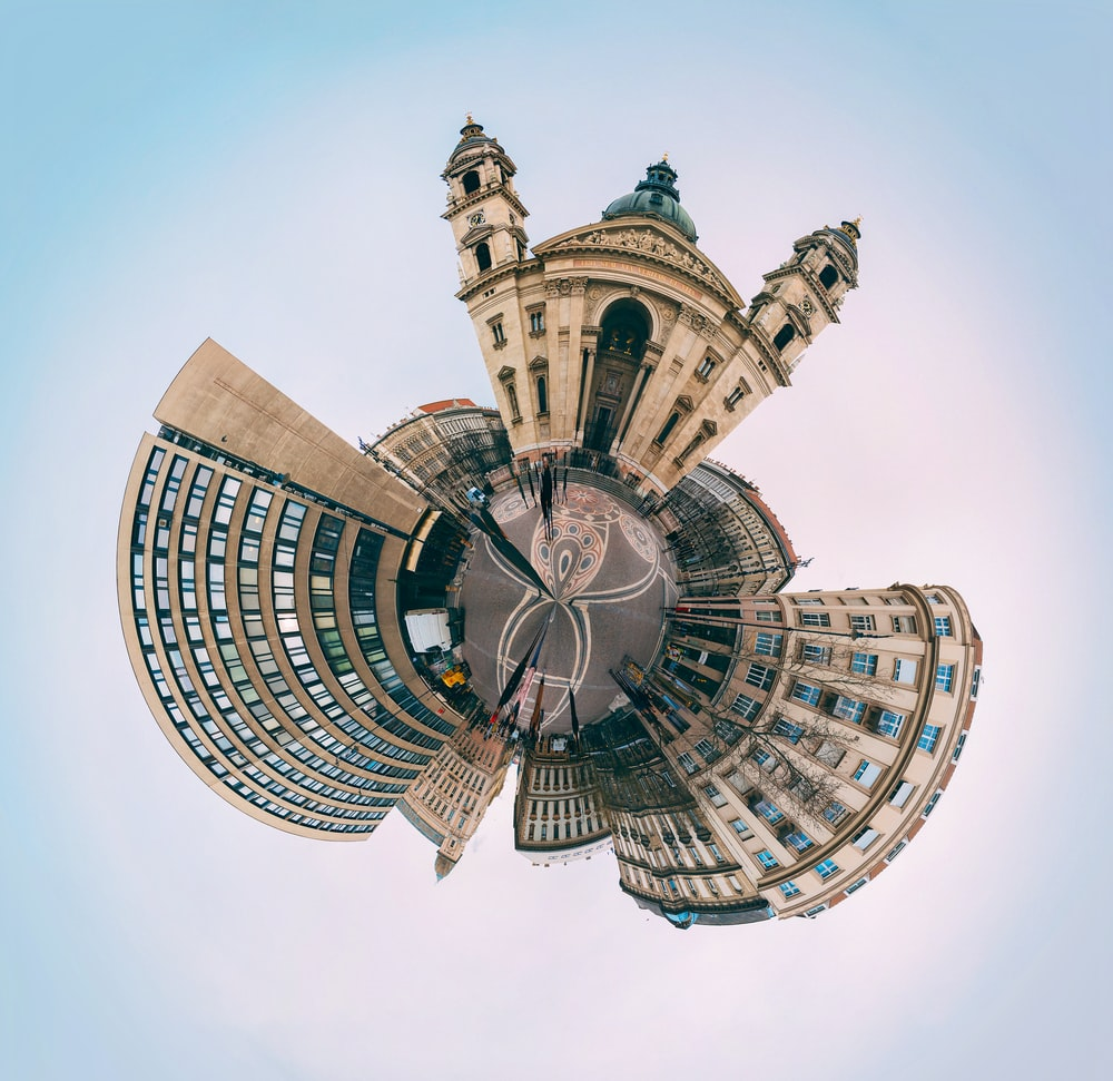 small planet photography of buildings