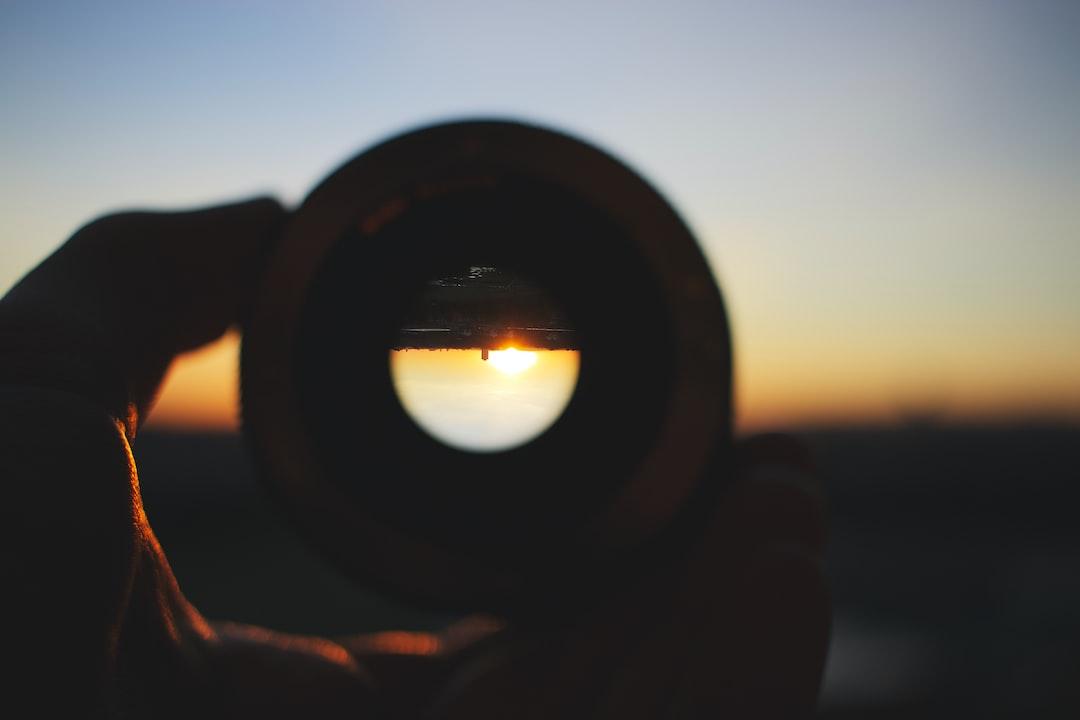 Sunrise Through Lens