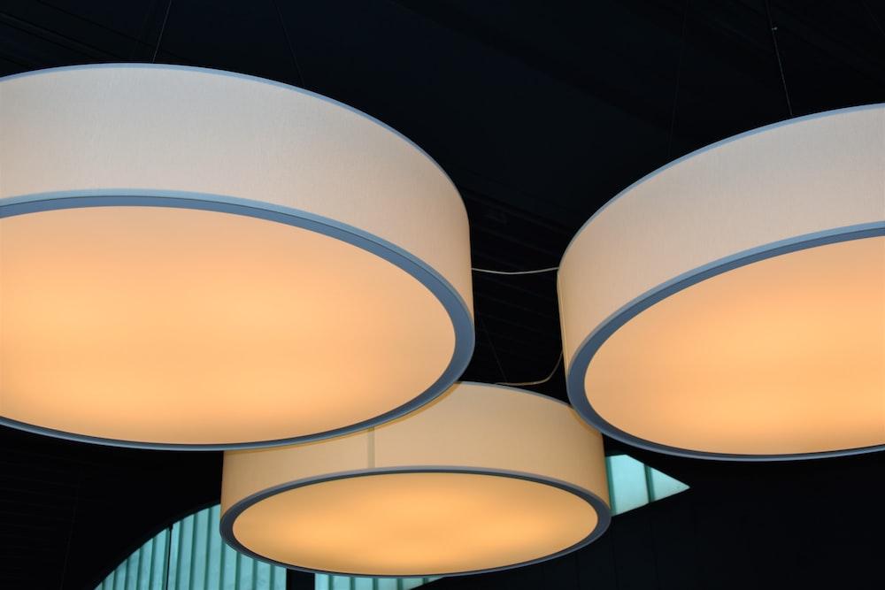 three lamps