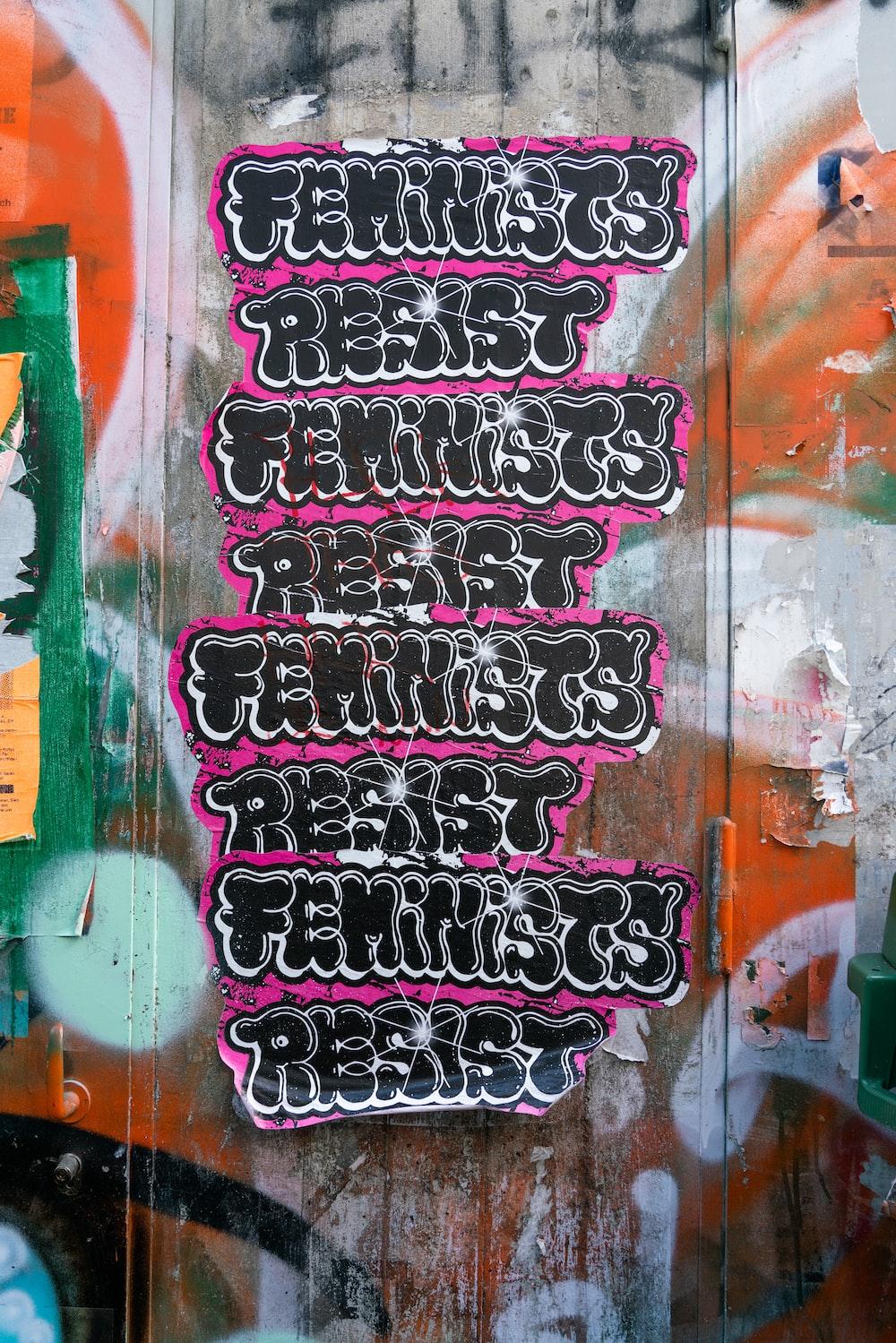 resist feminist text