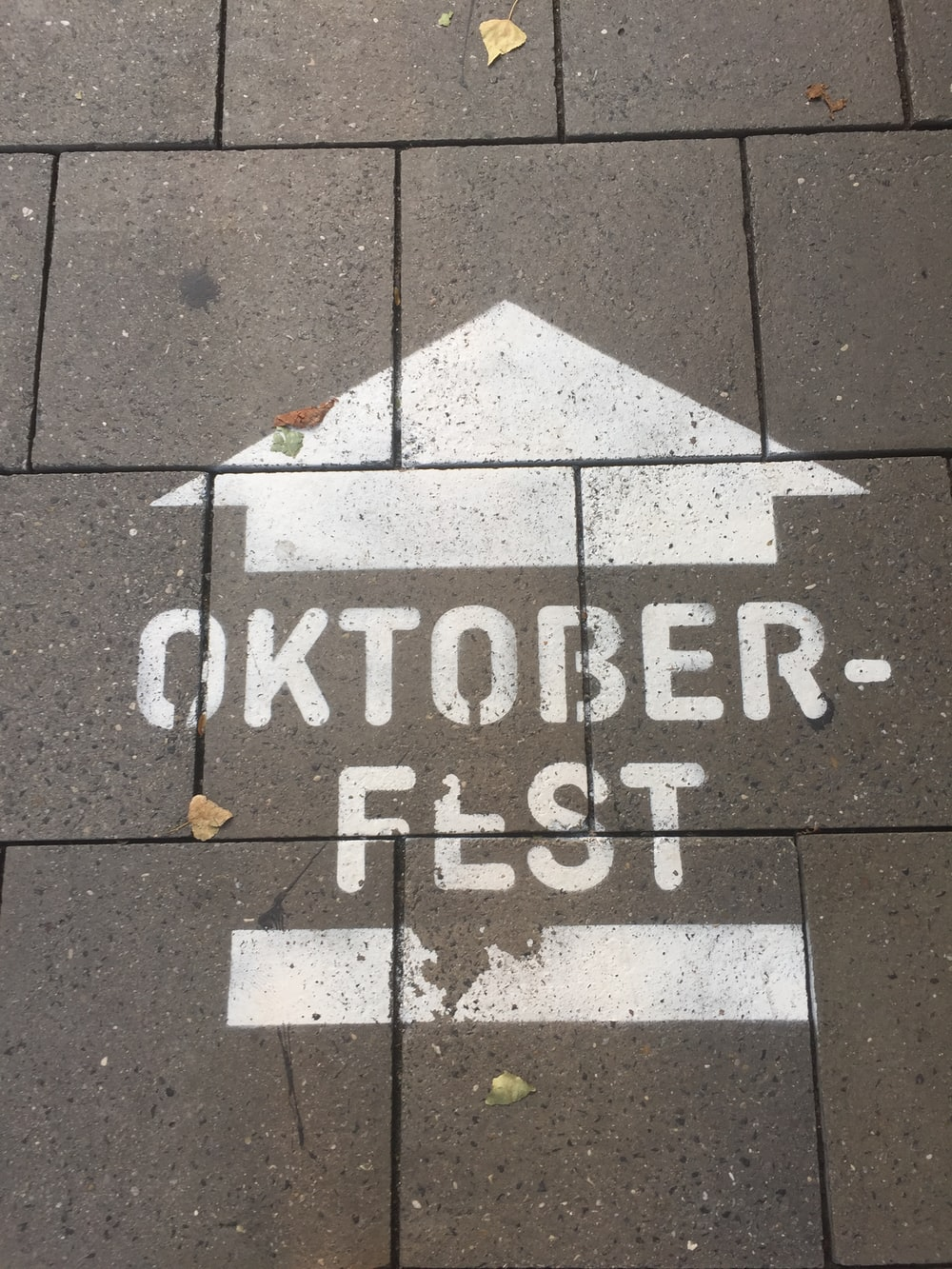 October fest signage on gray concrete wall