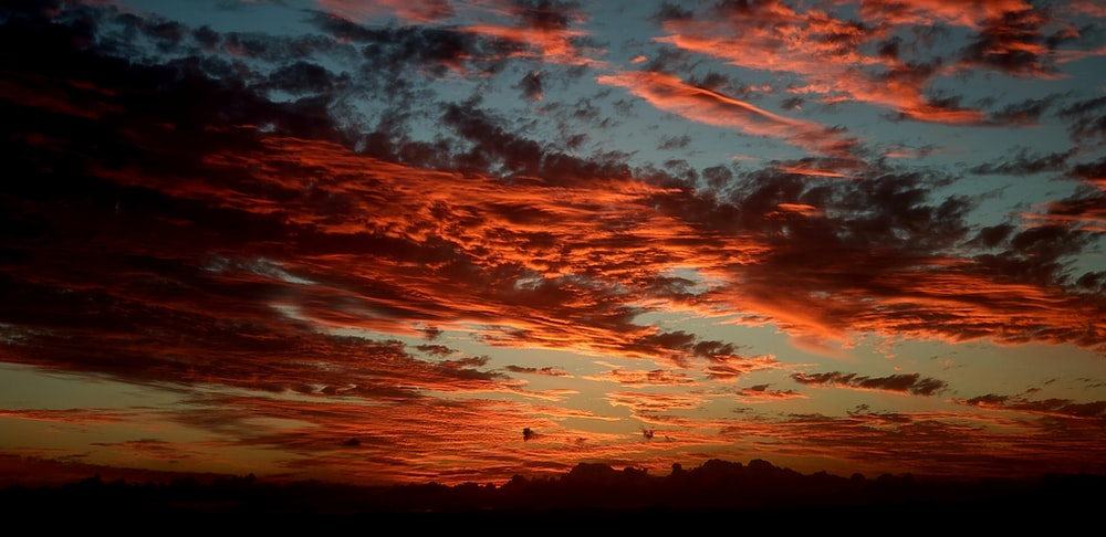 low-angle photography of sky during sunset