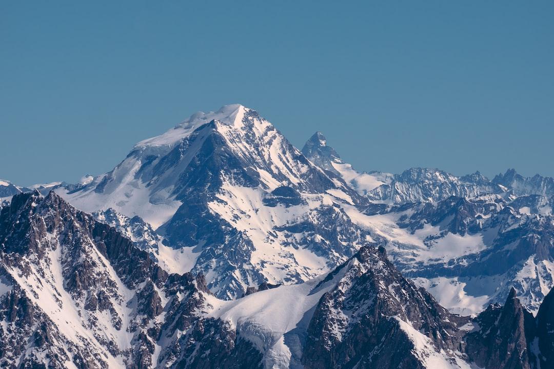 View at Grand Combin and Matterhorn